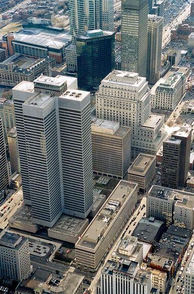 Vue aérienne de la Place Ville Marie