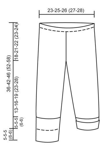 """Honey Suckle Tights - Pantaloncini DROPS ai ferri a punto legaccio in """"Baby Merino"""". - Free pattern by DROPS Design"""