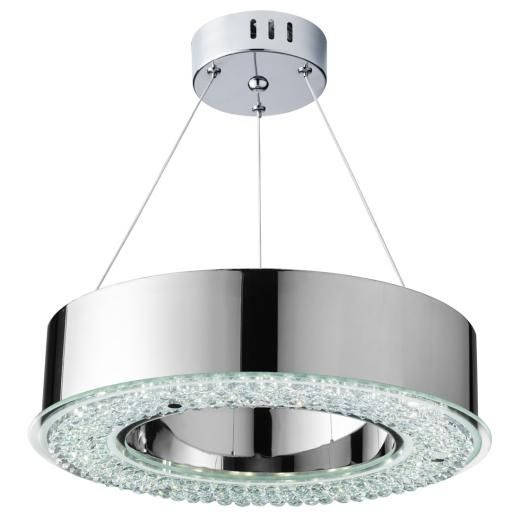 SEARCHLIGHT 4076-48CC Pendant Fitting 48 Light Finished in Polished Chrome and Crystal Glass Décor From the Stunning HALO Collection EA3369 | €270.60 | Searchlight 407648Cc Pendant Fitting 48 Light Finished In Polished Chrome And Crystal Glass Dcor From The Stunning Halo Collection Ea3369 | - OBriens Lighting, Co Kerry, Ireland