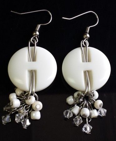 Great use for my vintage pearl Buttons. This is the back view