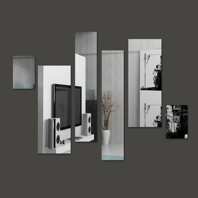 Produto: Espelho Decorativo em Acrílico Espelhado Retângulos Personalizáveis