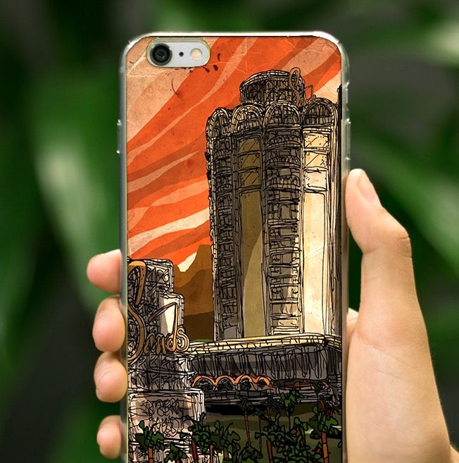 70's Las Vegas was the hippest and now there's an IPhone 6 case to celebrate it!  www.theartpillow.com