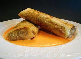 Con tu pan te lo comas: ROLLITOS DE CARNE CON SALSA DE PIQUILLOS #Recetassolidariasparanavidad