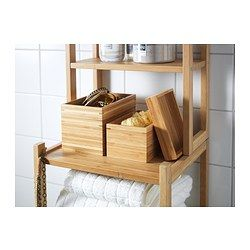 "DRAGAN 2-piece bathroom dish set - IKEA Good to know Sizes: 5 3/4x4x4 3/8"" and 6 3/4x4 3/4x4 3/4""."