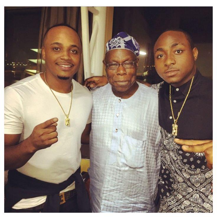 Spread News: Davido And Waje Spotted with Ex-President, Olusegu...