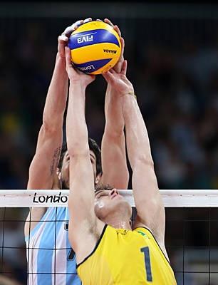 Este la competencia de voleibol. En equipo de voleibol Argentina.