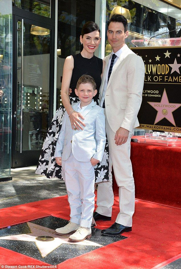 Riding high: Julianna Margulies was given a star on the Hollywood Walk of Fame on Friday, ...
