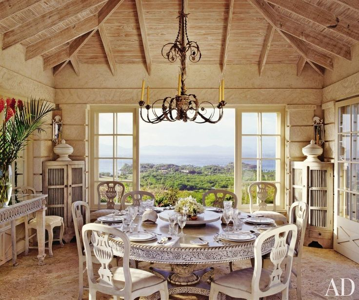 Traditional Dining Room By Grant White And Lubo Krmar In Mustique Caribbean