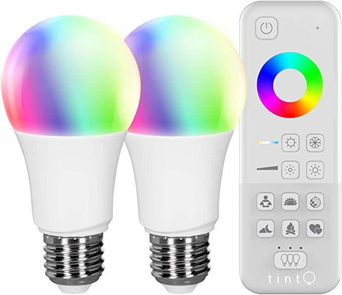 Tint Von Muller Licht Starter Set 2x Smarte Led Lampe E27 Birnenform White Color Weisstone 1800 6500k Farbiges Licht Rgb In 2020 Led Leuchtmittel Led Leuchtmittel