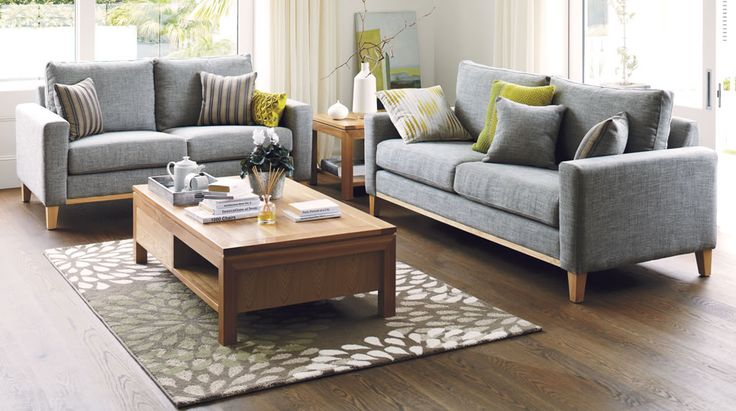 Would love this lounge suite. Just with duck egg blue accents instead of green. Taylor Fabric Lounge Furniture from Harvey Norman NewZealand