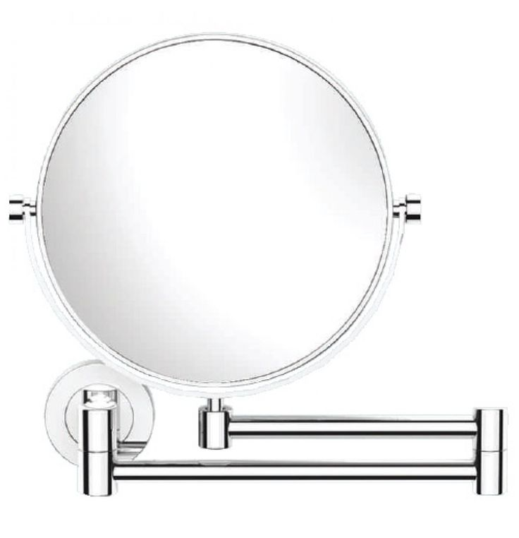 Jaquar Continental Double Arm Wall Mounted Reversible Plain / Magnifying (X3) Pivotal Mirror
