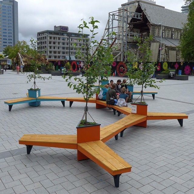 Propeller Benches Moveable Public Seating And Shade