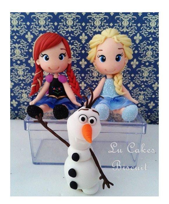 Lembrancinha Frozen em biscuit <br>Preço unitário de cada peça