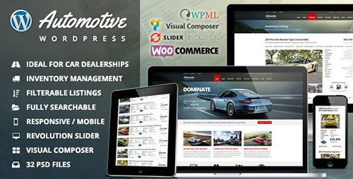 ThemeForest - Automotive v4.3 - Car Dealership Business WordPress Theme
