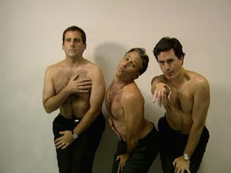 Steve Carell, Jon Stewart, & Stephen Colbert