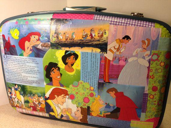 Child's Disney Luggage https://www.etsy.com/listing/159461390/childs-disney-luggage