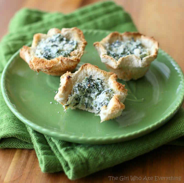 Spinach Artichoke Cups | Recipe | Spinach Artichoke Cups, Artichokes ...
