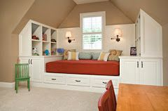 This is a great way to use space in a guest/bonus bedroom.  #hendersonvillenc   #homeimprovement   #remodeling
