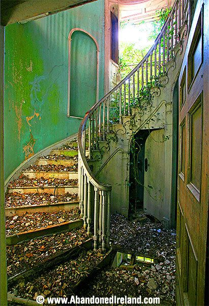 Once-lovely Foyer - Abandoned Ireland