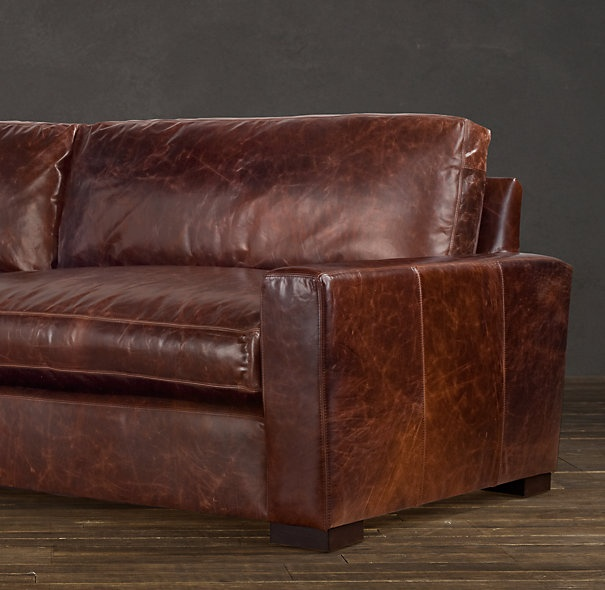 maxwell leather sofa restoration hardware this sofa looks