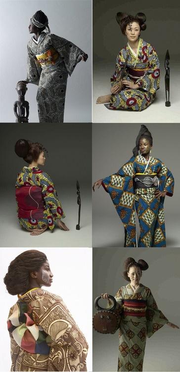 www.wafrica.jp African inspired kimono.  (黒ネコ)