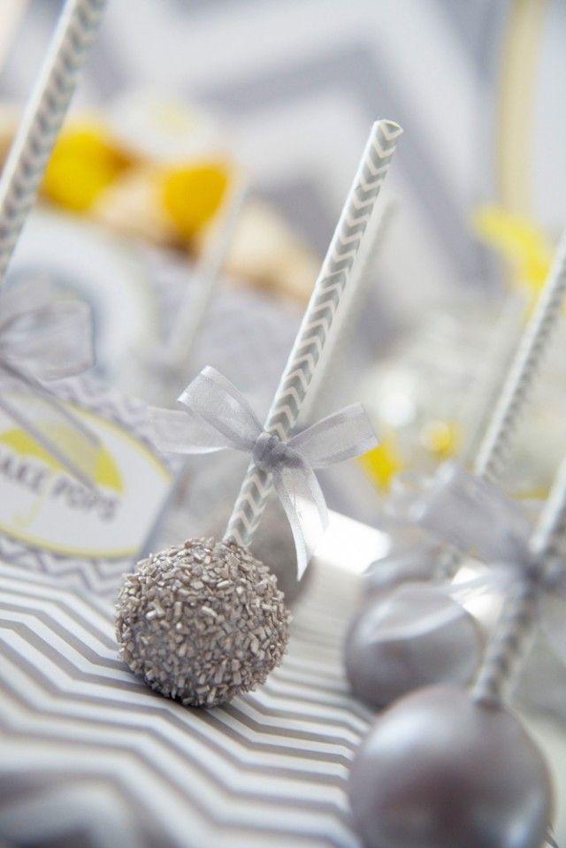 Anders Ruff Custom Designs, LLC: Yellow and Grey Elephant Baby Shower