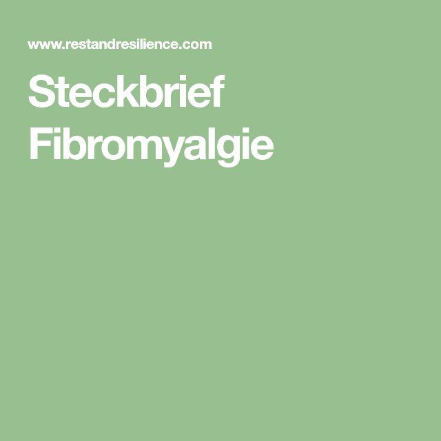 Steckbrief Fibromyalgie