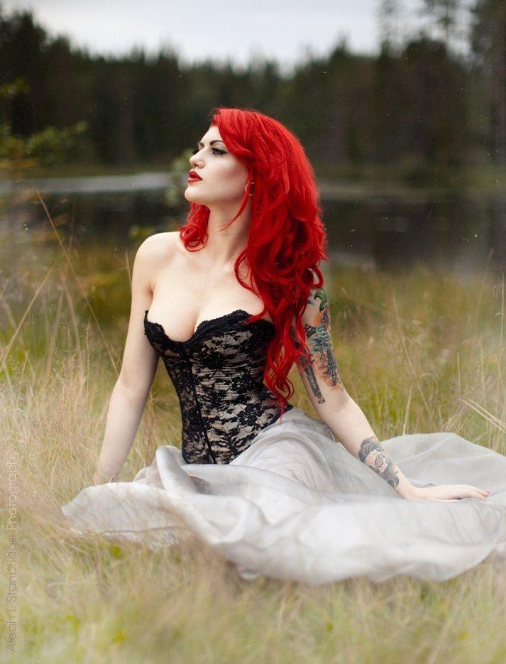 Redhead fetish goth #8