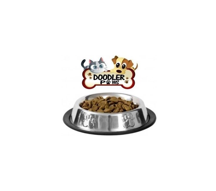 Pet Food Bowl Stainless Steel Dish Non Skid Pad Small Dog Cat Kitten Puppy Home | eBay