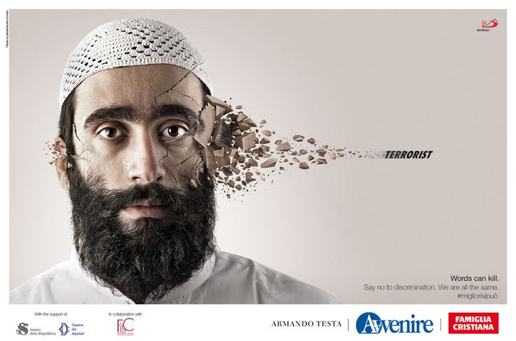 Face-Shattering Bullying Ads : Words Can Kill by Armando Testa