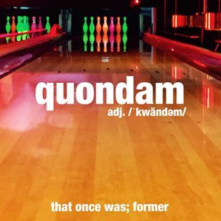 It turns out that his quondam favorite pastime still brings him a lot of joy. #bowling #fun #hobby #wordoftheday #dictionary