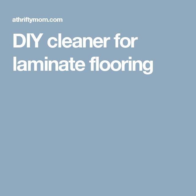 DIY cleaner for laminate flooring