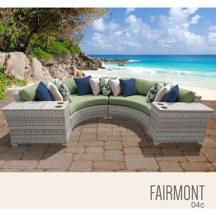 Fairmont 4 Piece Outdoor Wicker Patio Furniture Set 04c