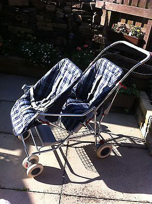 very-rare-Vintage-Silvercross-double-Wayfarer-pushchair-pram