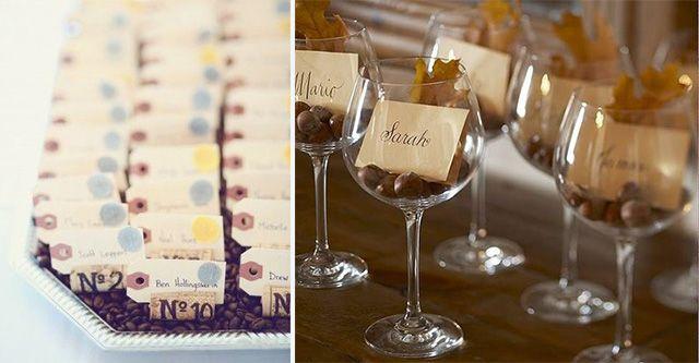 escort cards e segnaposti matrimonio a tema vino