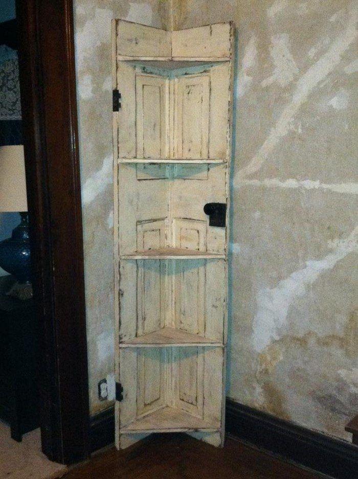 Turn An Old Door Into A Corner Shelf Diy Projects For Everyone Door Diy Projects Diy Door Corner Shelves
