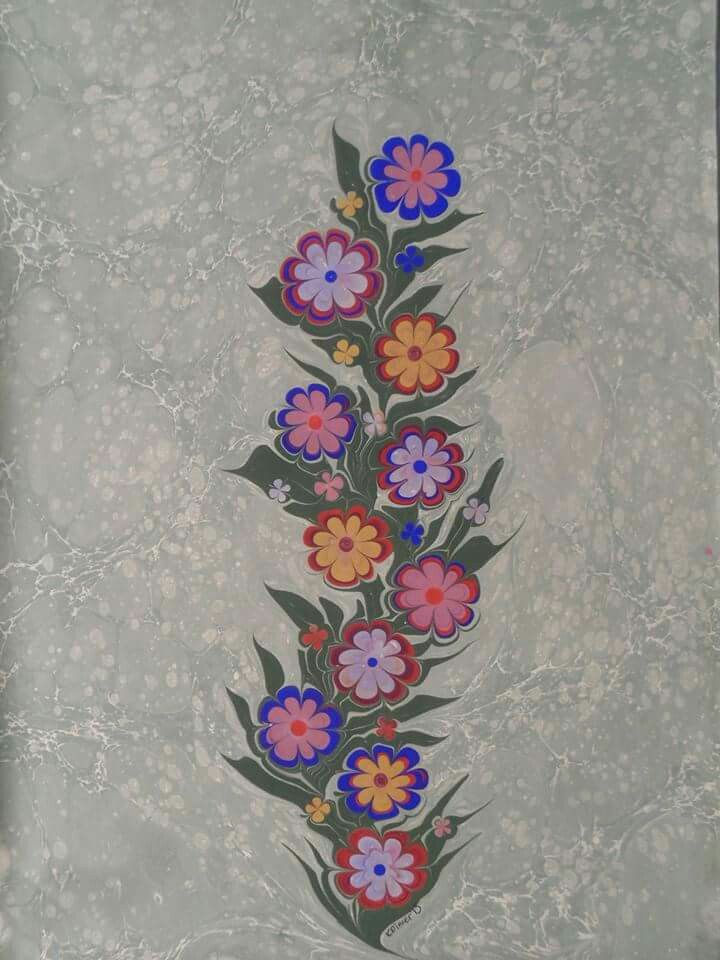 Ebru flowers