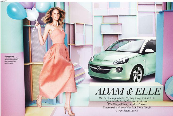 ADAM posing for Elle Magazine