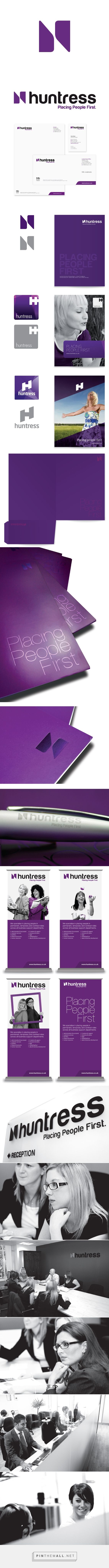 Huntress Group - Rebrand on Behance - created via https://pinthemall.net