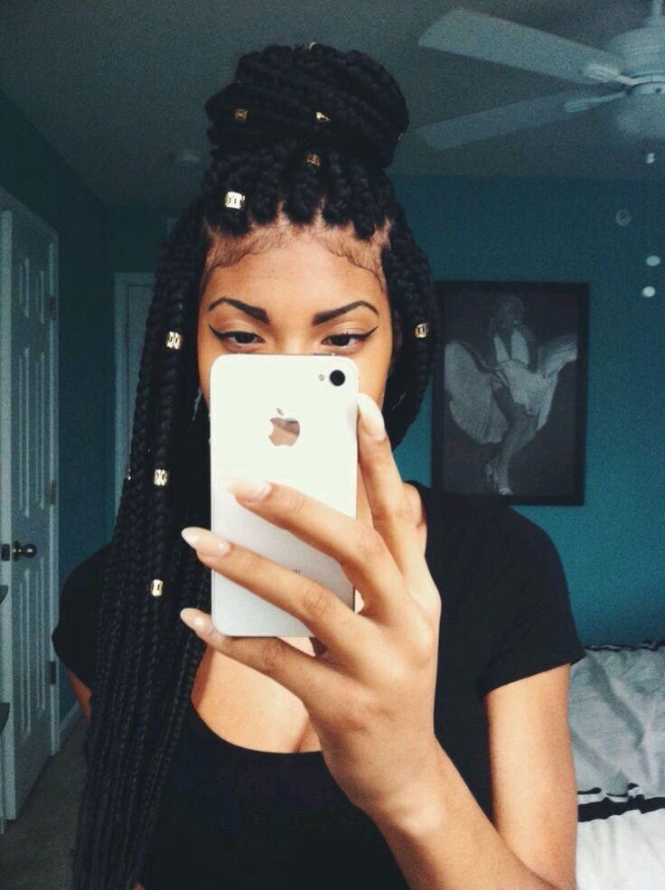 Box Braids With Cuffs  Hair , Nails  Makeup   Hair -9585