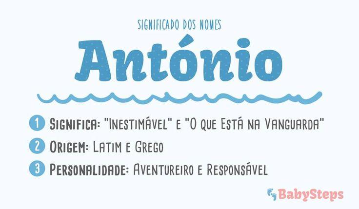 #António #babysteps #significado #nomes #menino #rapaz #aventureiro #responsável
