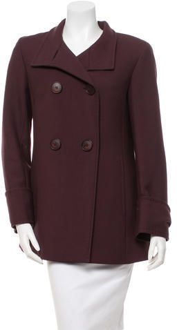Cinzia Rocca Wool Double-Breasted Coat