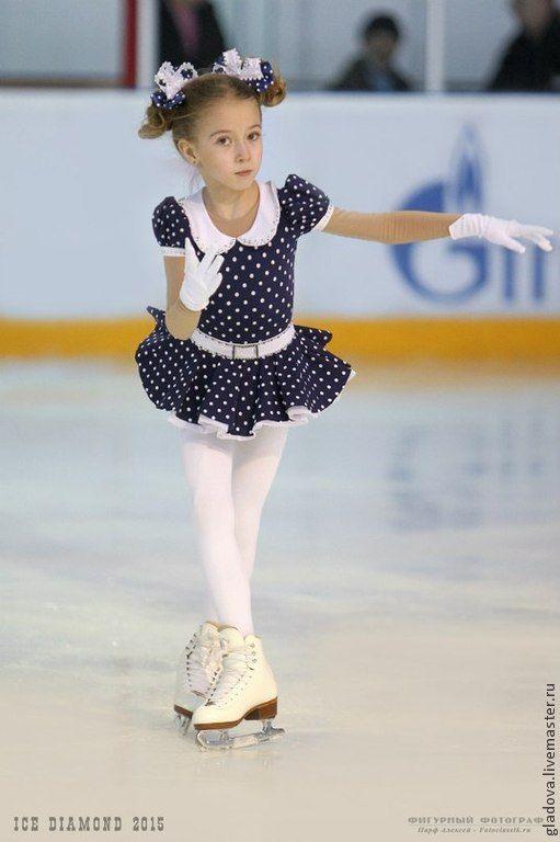 """Купить Одежда для фигурного катания. Платье """" Горошки"""" - платье, для выступления, спорт, фигурное катание"""