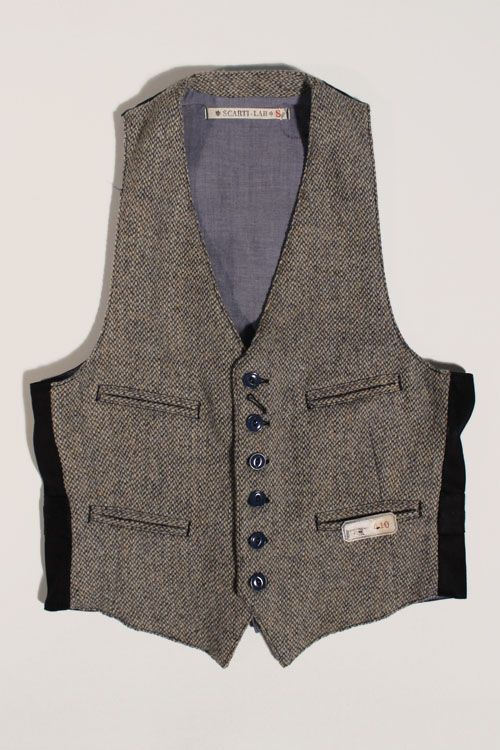 Scarti-Lab Waistcoat 410-SE222 Harris Tweed
