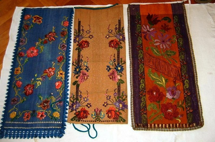 Traditional Romanian folk aprons