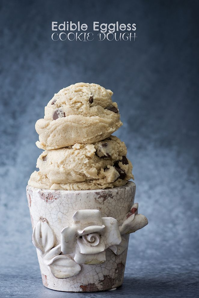 Edible, eggless cookie dough that's meant to be consumed raw. Spread it on top of brownies,  scoop it onto an ice cream sundae, or eat it with a spoon! | Kailley's Kitchen