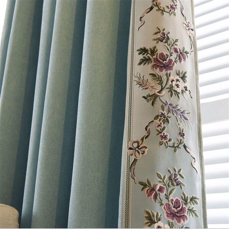 BHD индивидуальные вышитые современные затемненные шторы для окна шторы цветочные плотными шторами для гостиной спальни шторы купить на AliExpress