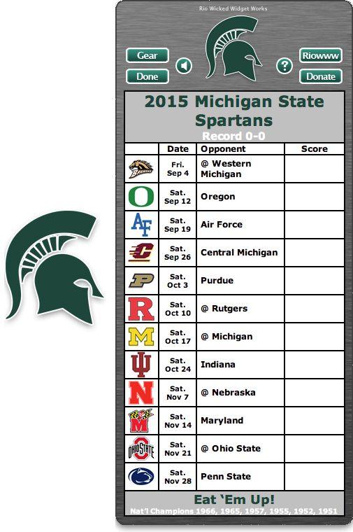 Michigan state football schedule