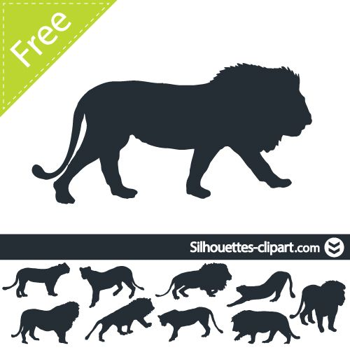 Vector Lion Silhouette Silhouettes Pinterest Lion