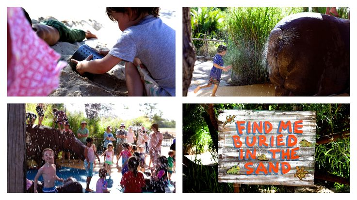 hippo beach and water play @ werribee zoo, werribee places to go mamma knows west